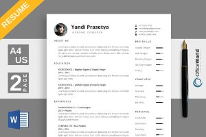 Spacious Resume / CV MS Word