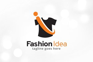 Fashion Idea Letter i Logo Template