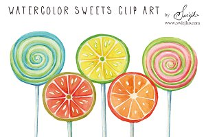 Watercolor Clip Art,Lollipop
