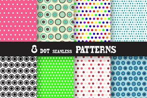 8 Dot Seamless Patterns