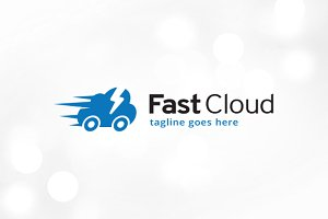 Fast Cloud Logo Template