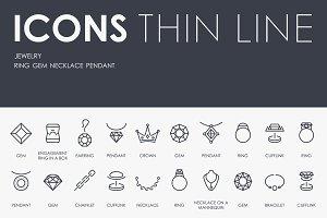 Jewelry thinline icons