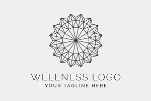 The Wellness Logo Template PSD