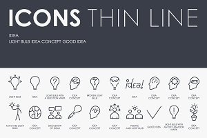 Idea thinline icons