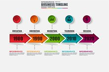 Infographic Business Arrow Timeline