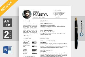 Elegance Resume / CV Ms Word