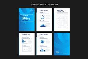 Modern annual report template