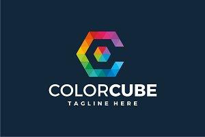 Color Cube - Letter C Logo