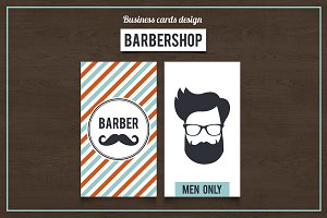 Barber Shop Business Cards. SET 2