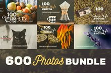 600 Vintage Style Photos - Bundle