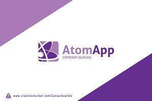 Atom App Logo Template