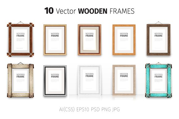 Free Wooden Rectangle Frames Set