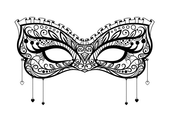 Elegant carnival black lace mask