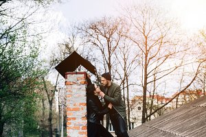 couple on the roof