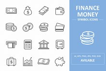 Finance & Money Symbol Icons