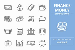Finance & Money Symbol Icons