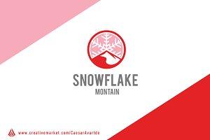 Snowflake Mountain Logo Template