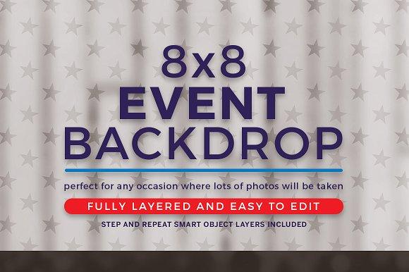 Political 8x8 Backdrop ~ Templates ~ Creative Market