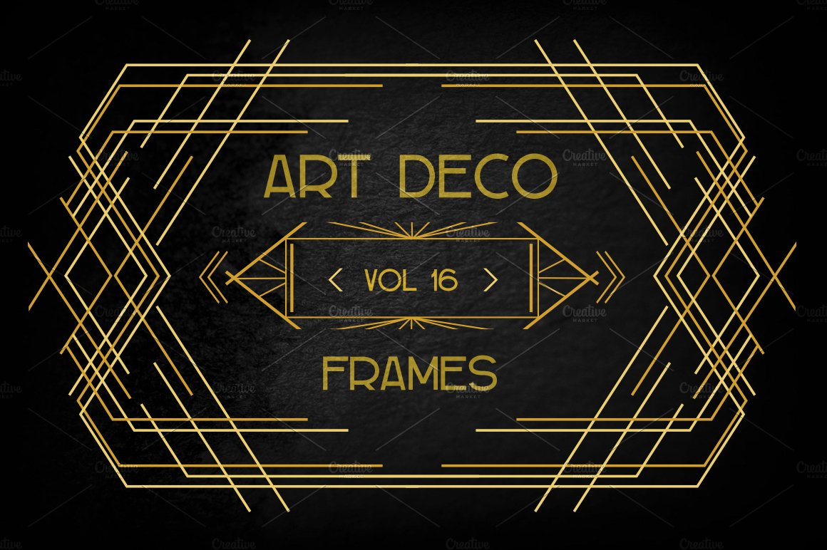 Art deco elements vol 16 illustrations creative market for Deco 5 elements
