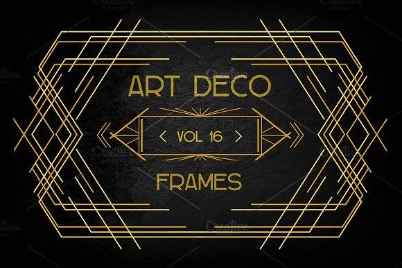 Art Deco Elements Vol. 16 - Illustrations