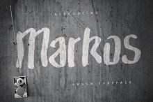 Markos Brush Typeface [-50% Intro]