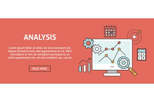 Data analysis concept banner