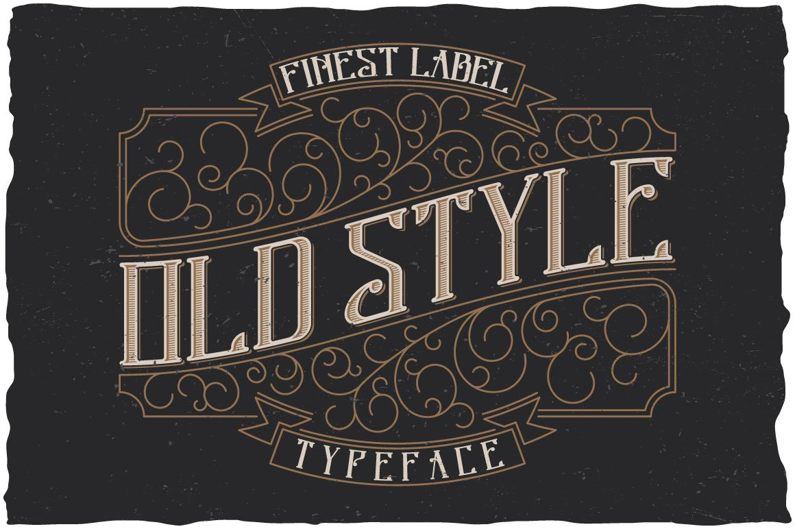 Old Style Label Typeface Display Fonts Creative Market