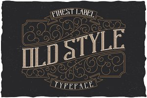 Old Style Label typeface