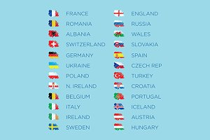 Euro 2016 qualifiers flags