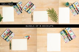 Watercolor Mockups Bundle