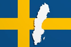 Sweden Map Photos Graphics Fonts Themes Templates Creative - Sweden map flag