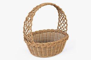 Wicker Basket 04 Natural Color