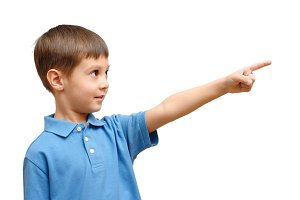 Child pointing his finger