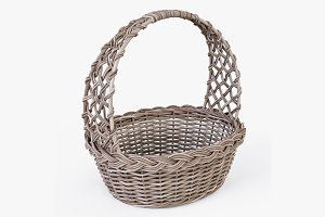 Wicker Basket 04 Gray Color