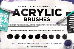 Hand Painted Acrylic Brushes