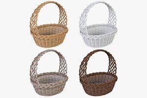 Wicker Basket 04 Set 4 Color