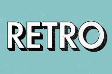 10 Retro Text Effect Actions