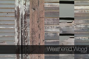 Weathered Wood - 6 pack