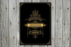 Invitation card with Floral Ornament