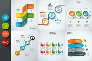 Diagrams for business infographic v8