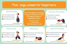 Yoga poses for beginners infographic