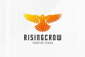Rising Crow Logo Template