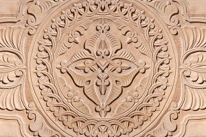 background carved wall