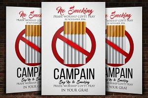 No Smoking Awareness Flyers