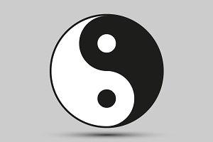 Ying yang balance symbol