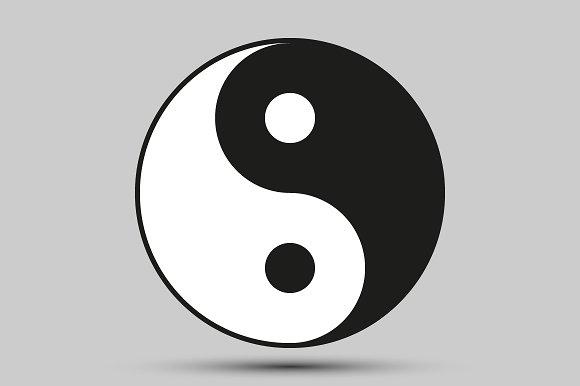 Ying Yang Balance Symbol Icons Creative Market