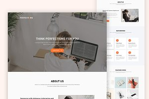 Agency Website Design Psd Template