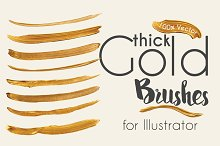 gold brush strokes