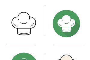 Chef's hat icons. Vector