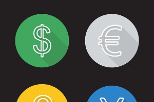 Exchange rates icons. Vector